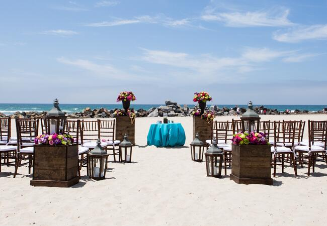 Simple Beach Ceremony | Vallentyne Photography | blog.TheKnot.com