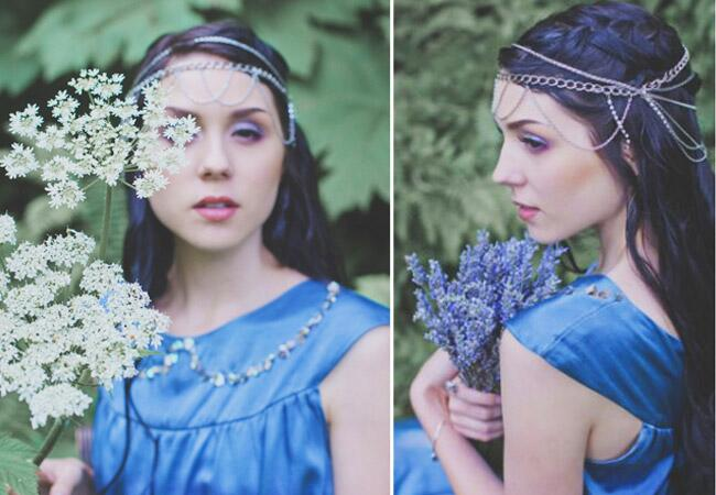 Something Blue Chain Headpiece