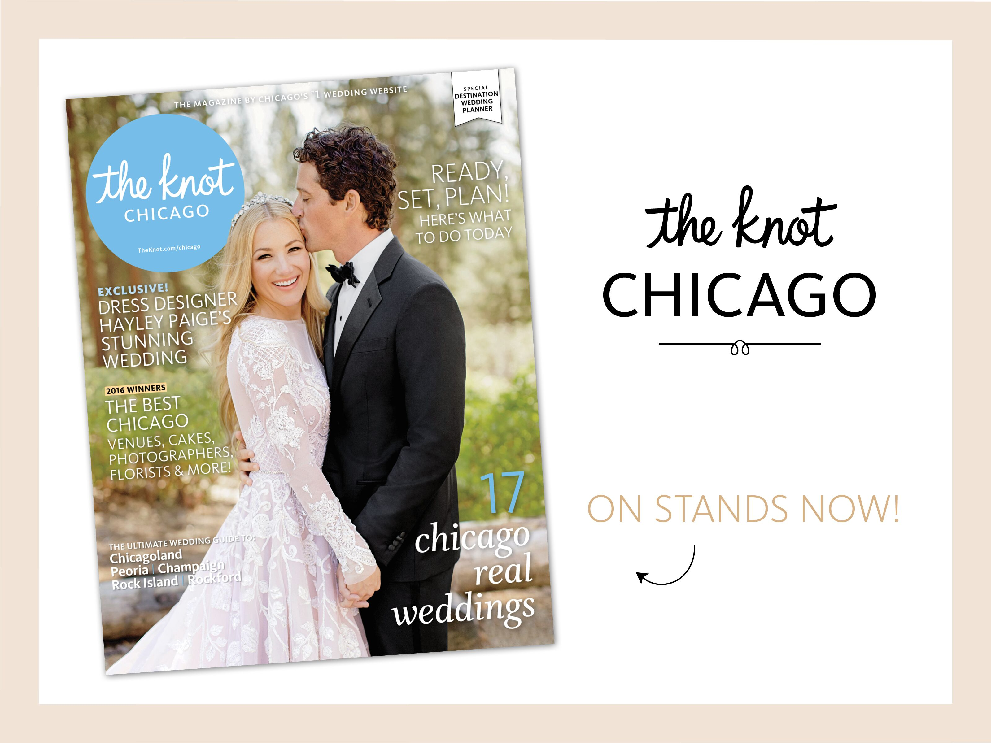 the knot chicago magazine is now on newsstands
