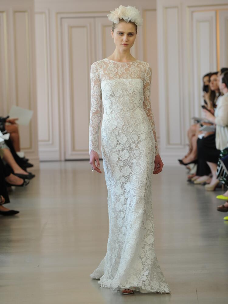Oscar de la renta 39 s spring 2016 collection bridal fashion for Oscar de la renta lace wedding dress