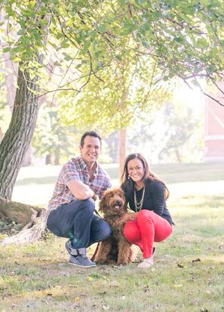 Engagement Photos with Dogs: Janne Photography / TheKnot.com