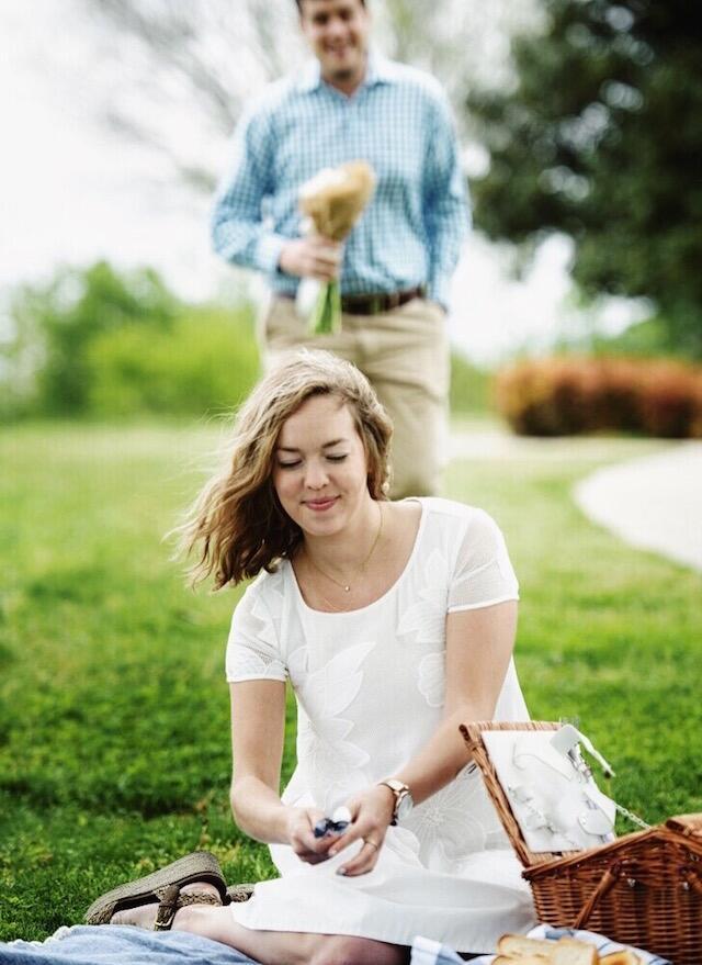 Surprise picnic proposal