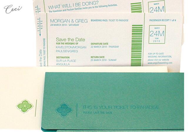Destination Wedding Plane Ticket