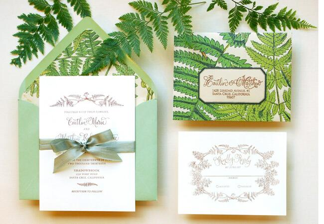 Fern Motif Invitation Suite