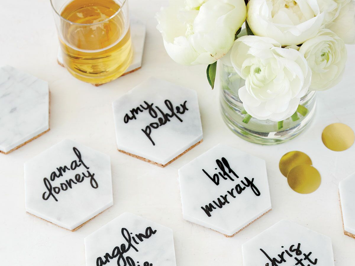 DIY These Chic Marble Coasters