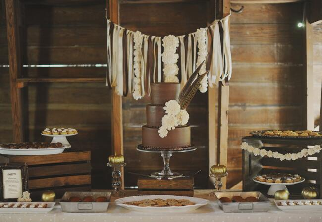 DIY ribbon wedding decor: Amy Carroll Photography / TheKnot.com
