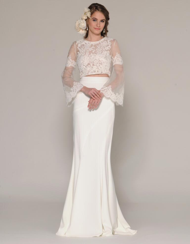The latest fashion of two- piece wedding dress fall 2019 ...