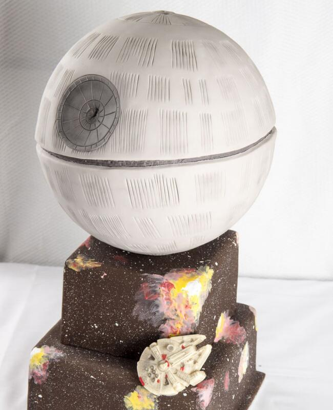 Death Star Wedding Cake