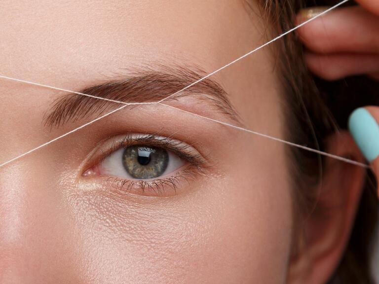 Eyebrow threading hair removal wedding planning