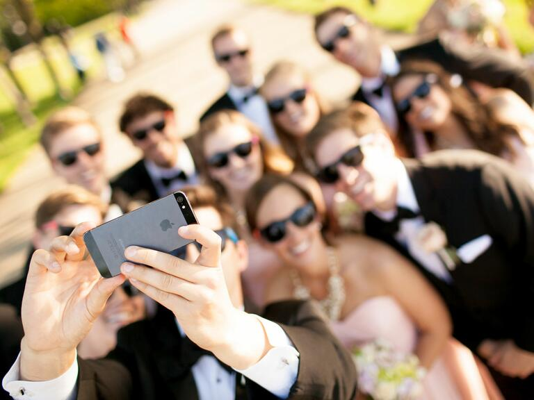 Cell phone at wedding