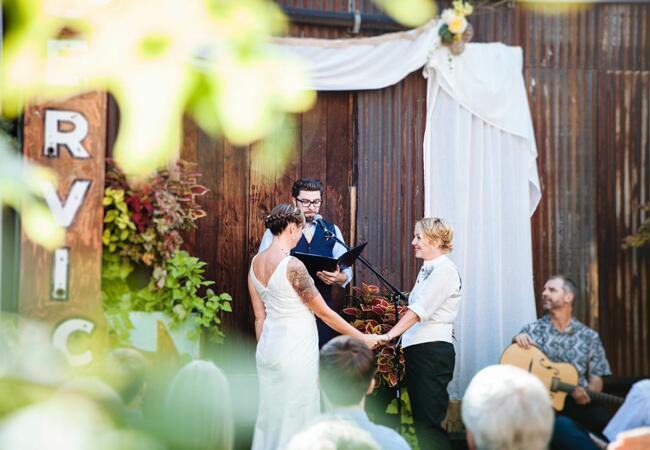 Alissa Haslam and Jeanne Sickel Wedding Ceremony  <img class=
