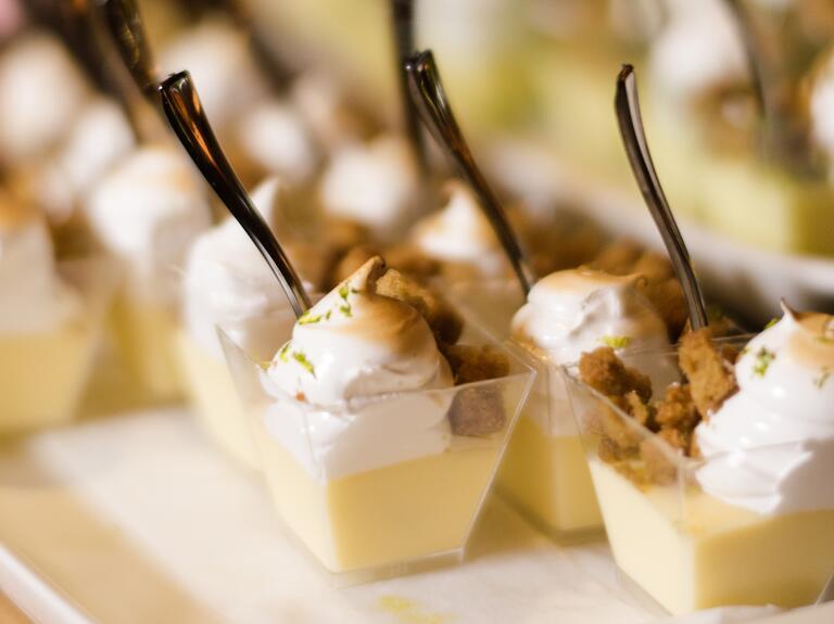 Key lime pie dessert cups
