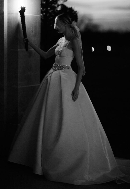 White by Vera Wang Spring 2017 sleeveless thin strap simple full skirt wedding dress