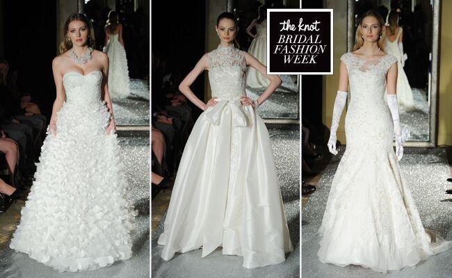 Oleg Cassini Wedding Dresses Showcases Detailed Floral