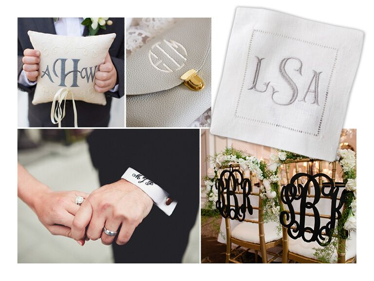 Collage Of Monogrammed Items