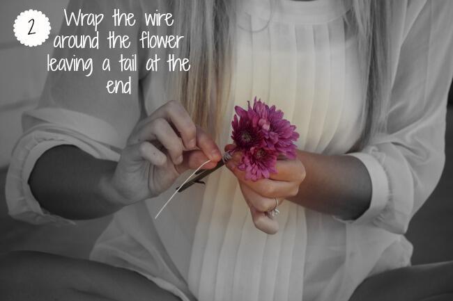 Step 2: Wrap The Wire Around a Flower