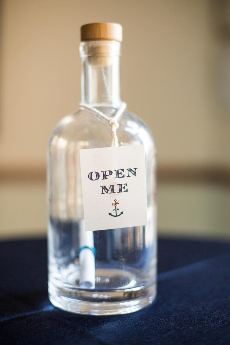 Message in a bottle save-the-dates