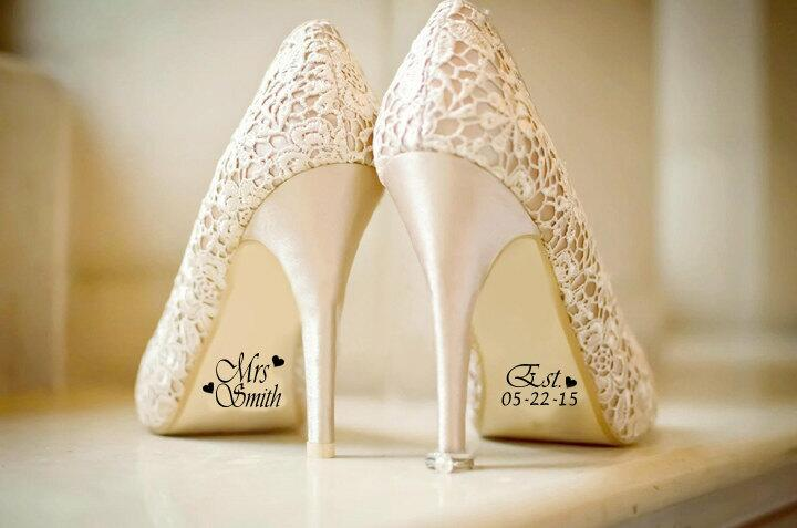 Lace wedding shoes on window sill