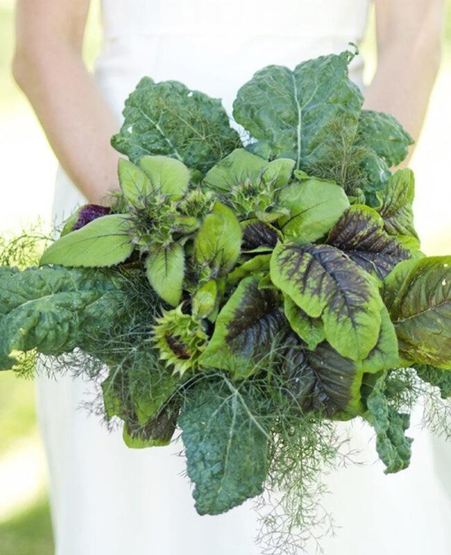 Flower Bouquet Alternatives // Leafy Greens // The Knot Blog