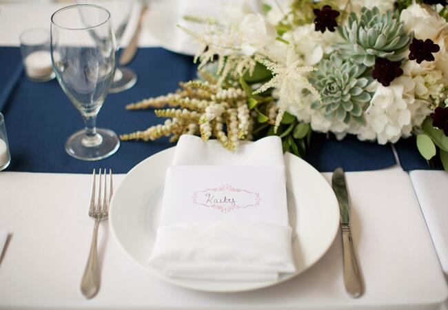 DIY stamped wedding decor: Caroline Joy / TheKnot.com
