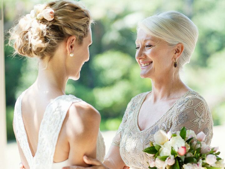 Bride And Mother In Law On Wedding Day