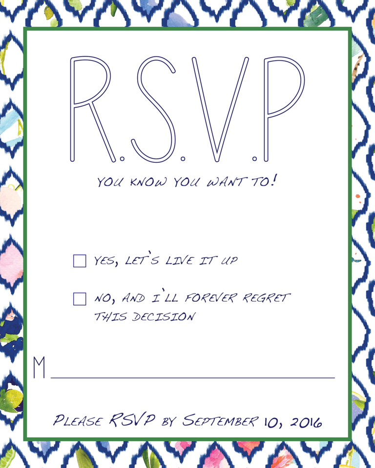 Funny Wedding Rsvp Wording