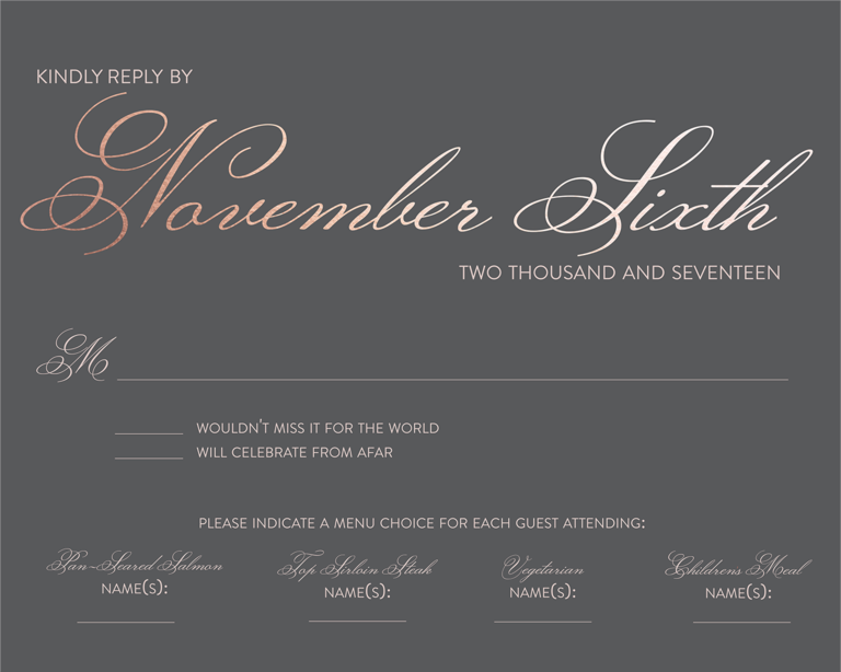 Rsvp To Wedding Invitation Wording