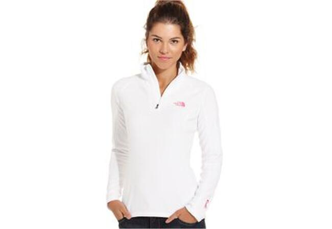 North Face White Half-Zip Pullover