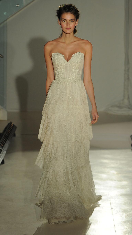 Lazaro spring 2017 collection bridal fashion week photos for Lazaro a line wedding dress