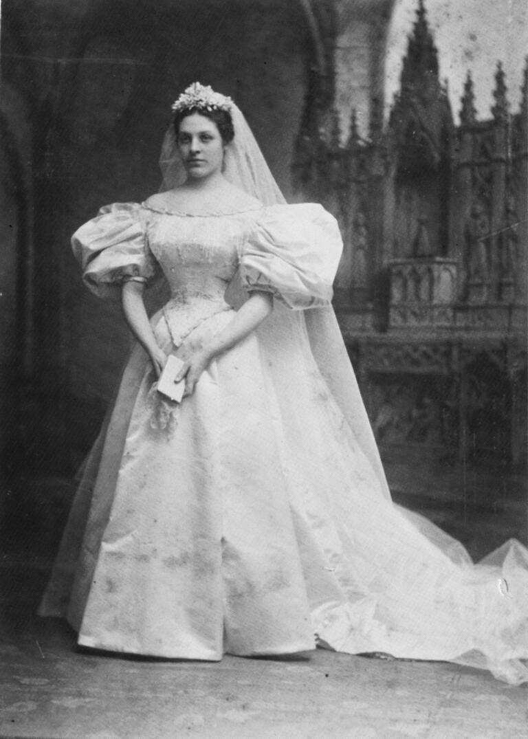 Mary Lowry Warren wedding dress 1895