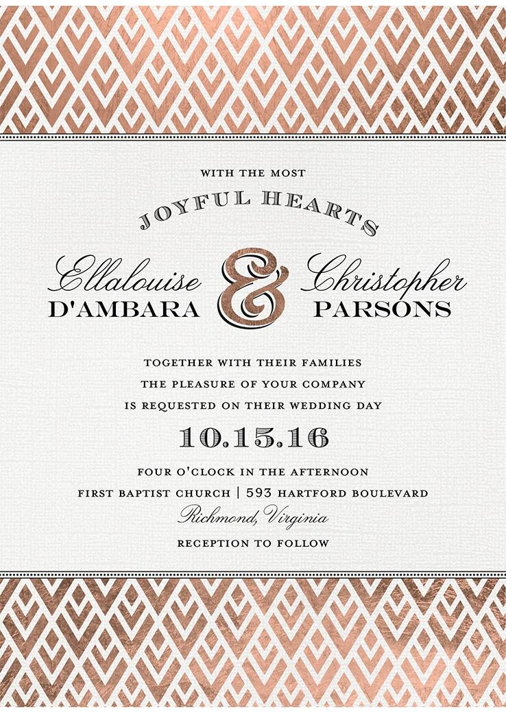 Wedding invitations wedding stationery for The knot gift registry