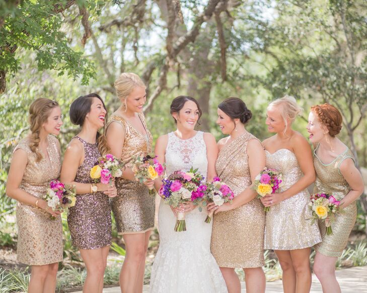 Champagne bridesmaid dresses short 2017