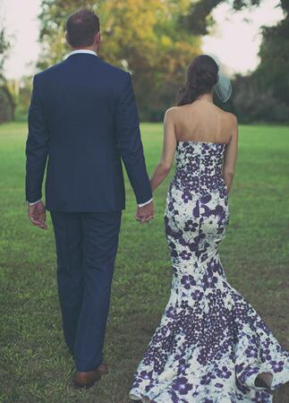 Floral Print Wedding Dresses