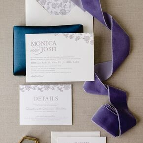 Sophisticated Lavender Wedding Invitations