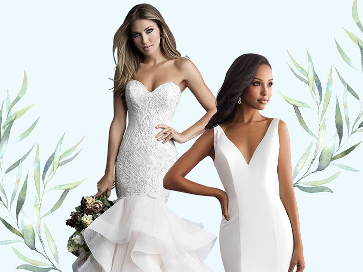 b571f20558 Finding your wedding dress is a bit like falling in love—it s all about  discovering the perfect match for you. That s why Allure Bridals has gowns  to suit ...