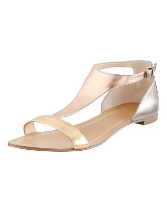 Her Look: Gold Sandals
