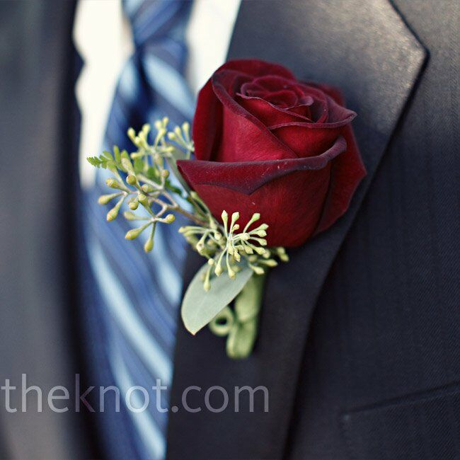 Cork Boutonniere: Red Rose Boutonniere