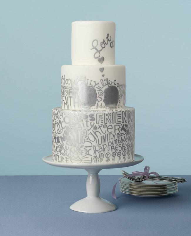 Wedding Cakes With Words