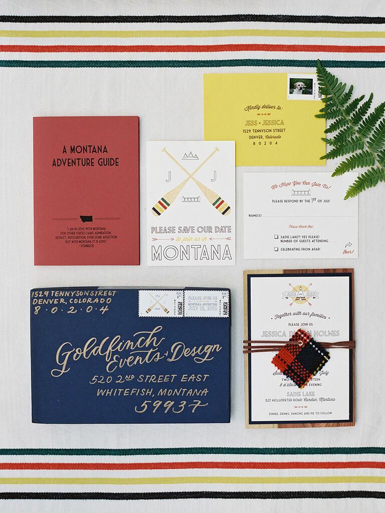 Rustic invitation suite