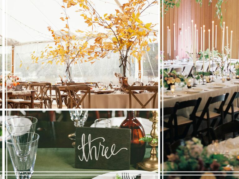 Fall Wedding Reception Trends Tall Centerpieces With A Rustic Or Formal Feel