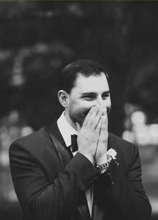 groom reaction | Lime Green Photography | blog.theknot.com