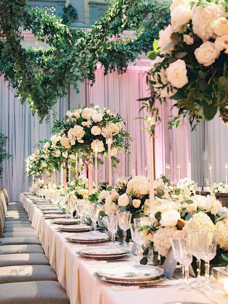 Hot wedding trends for 2017 for Floral wedding decorations ideas