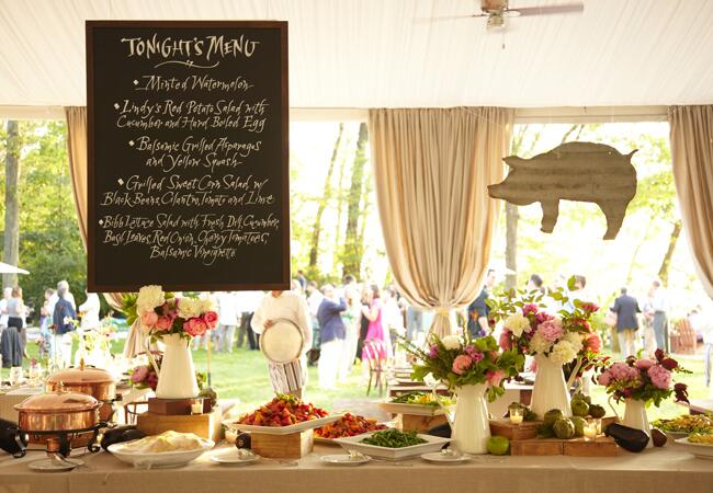 A Chic Barbecue Rehearsal Dinner