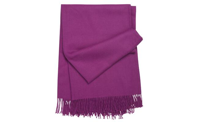 Fuchsia Alpaca Throw / The Knot blog