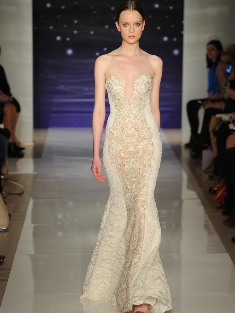 Reem acra spring 2016 wedding dresses from bridal fashion week for Skin tight wedding dresses