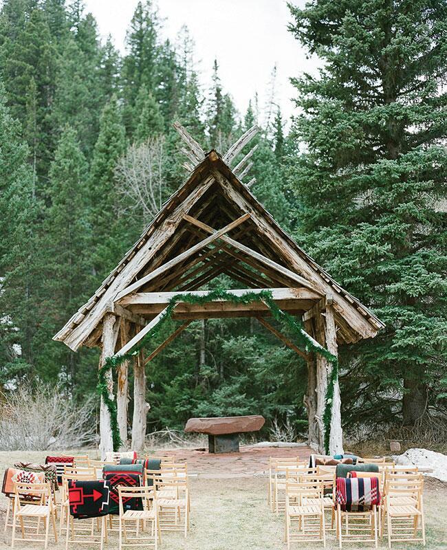 Outdoor Wedding Venues In Georgia: A Rustic Colorado Wedding At A Mountainside Chapel