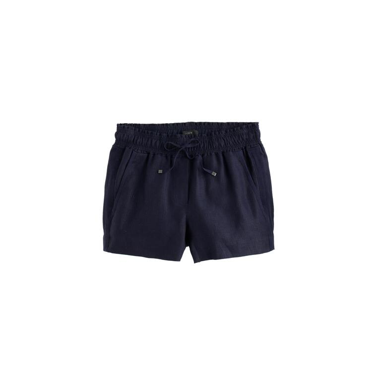 jcrew navy linen shorts