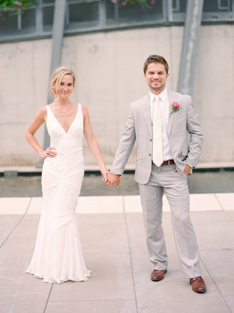 Newlyweds posing