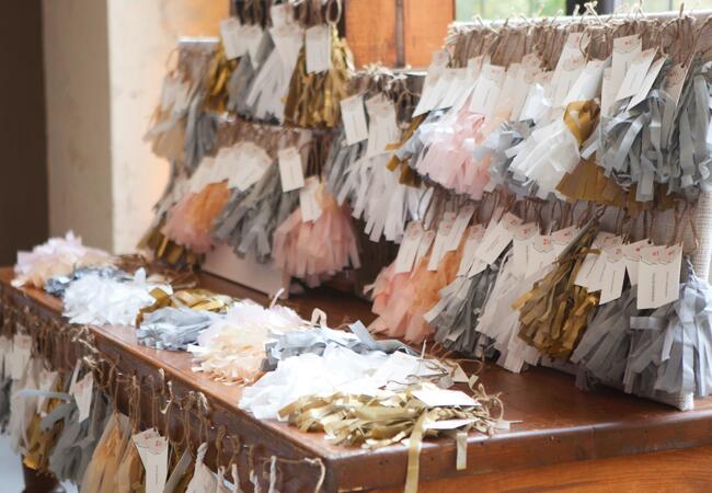 DIY tassel wedding ideas   Love Me Do Photography   blog.theknot.com