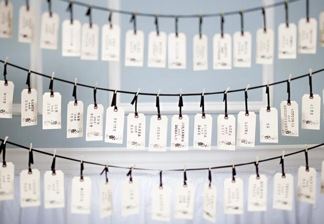 DIY clothespin wedding ideas: Judith Rae Photography / TheKnot.com
